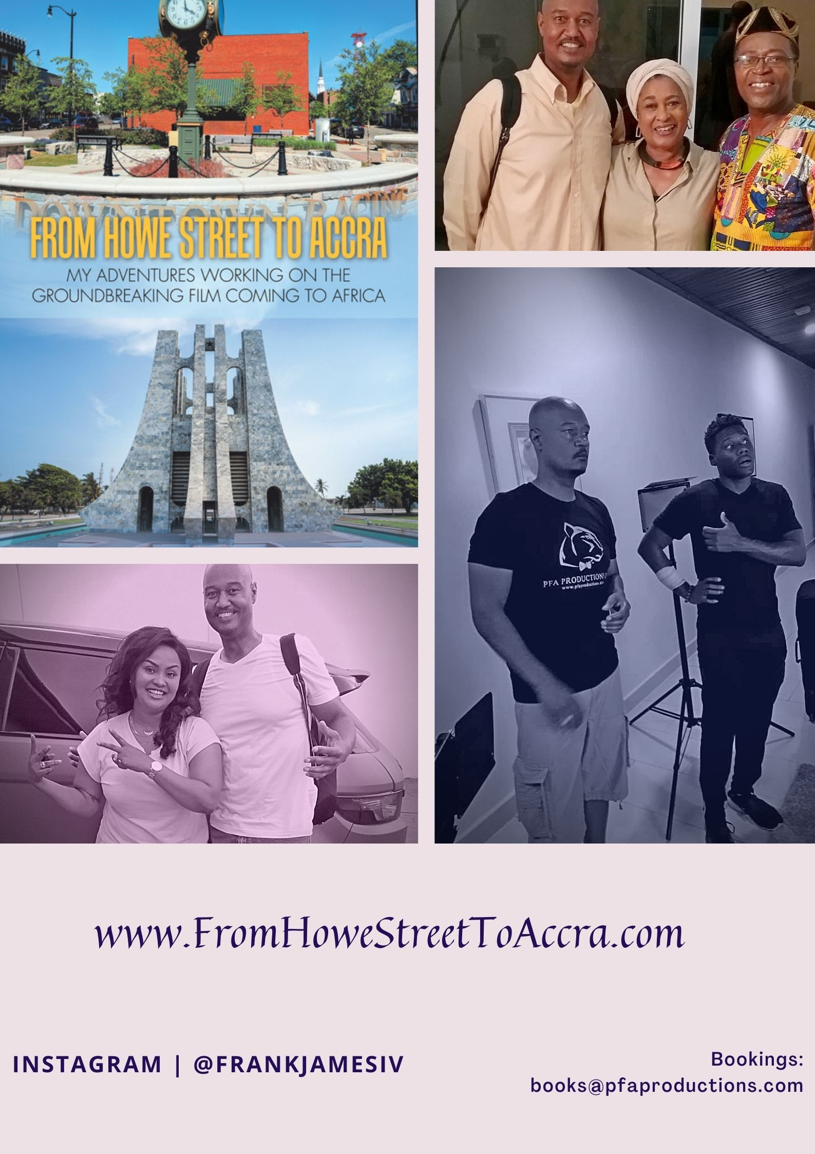 """Frank James IV Releases His Latest Book """"From Howe Street To Accra"""""""